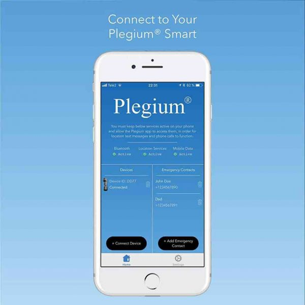 Plagium Smart Pepper Spray Smartphone App