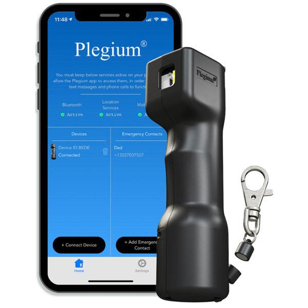 Plegium Smart Pepper Spray for sale at Mindful Defense Self-Defense